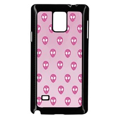 Alien Pattern Pink Samsung Galaxy Note 4 Case (black)