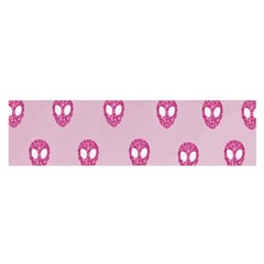 Alien Pattern Pink Satin Scarf (oblong)