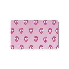 Alien Pattern Pink Magnet (name Card)
