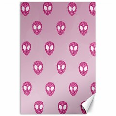 Alien Pattern Pink Canvas 24  X 36