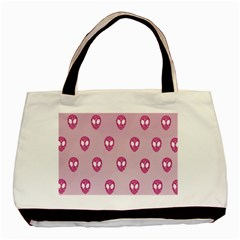 Alien Pattern Pink Basic Tote Bag (two Sides)