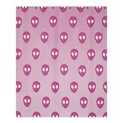 Alien Pattern Pink Shower Curtain 60  X 72  (medium)