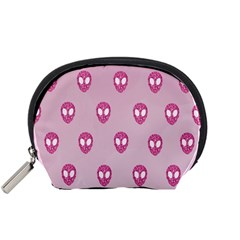Alien Pattern Pink Accessory Pouches (small)