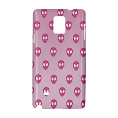 Alien Pattern Pink Samsung Galaxy Note 4 Hardshell Case