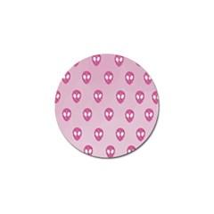 Alien Pattern Pink Golf Ball Marker (10 Pack)