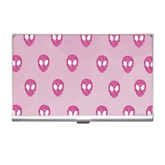 Alien Pattern Pink Business Card Holders