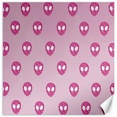 Alien Pattern Pink Canvas 16  X 16