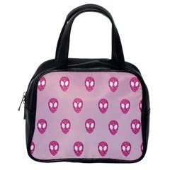 Alien Pattern Pink Classic Handbags (one Side)