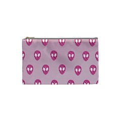 Alien Pattern Pink Cosmetic Bag (small)