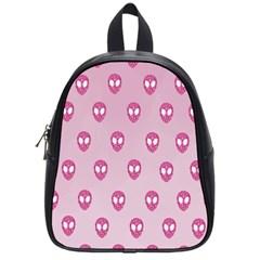Alien Pattern Pink School Bags (small)