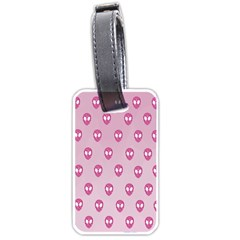 Alien Pattern Pink Luggage Tags (one Side)