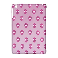 Alien Pattern Pink Apple Ipad Mini Hardshell Case (compatible With Smart Cover)