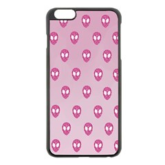 Alien Pattern Pink Apple Iphone 6 Plus/6s Plus Black Enamel Case