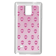 Alien Pattern Pink Samsung Galaxy Note 4 Case (white)