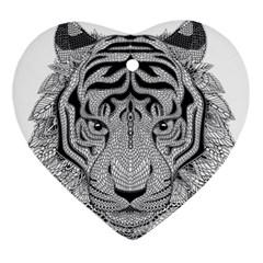Tiger Head Ornament (heart)