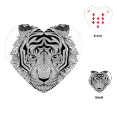 Tiger Head Playing Cards (heart)