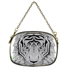 Tiger Head Chain Purses (one Side)