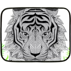 Tiger Head Fleece Blanket (mini)