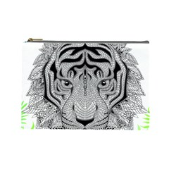Tiger Head Cosmetic Bag (large)