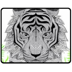 Tiger Head Fleece Blanket (medium)