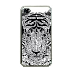 Tiger Head Apple Iphone 4 Case (clear)