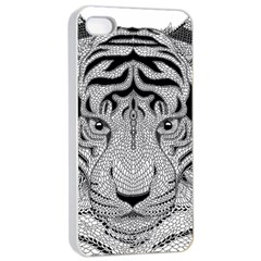 Tiger Head Apple Iphone 4/4s Seamless Case (white)
