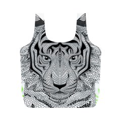 Tiger Head Full Print Recycle Bags (m)