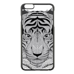 Tiger Head Apple Iphone 6 Plus/6s Plus Black Enamel Case