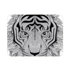 Tiger Head Double Sided Flano Blanket (mini)