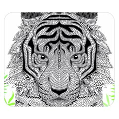 Tiger Head Double Sided Flano Blanket (small)