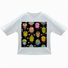 Cute Owls Pattern Infant/toddler T Shirts