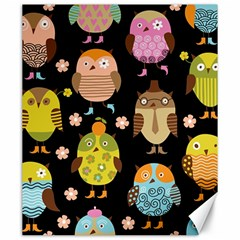 Cute Owls Pattern Canvas 20  X 24