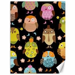 Cute Owls Pattern Canvas 36  X 48
