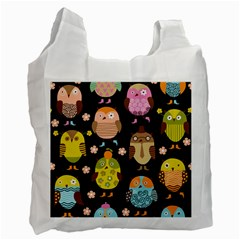 Cute Owls Pattern Recycle Bag (one Side)