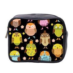 Cute Owls Pattern Mini Toiletries Bag 2 Side