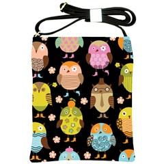 Cute Owls Pattern Shoulder Sling Bags