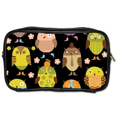 Cute Owls Pattern Toiletries Bags