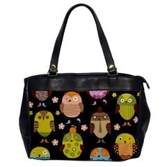 Cute Owls Pattern Office Handbags