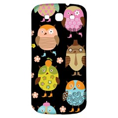 Cute Owls Pattern Samsung Galaxy S3 S Iii Classic Hardshell Back Case