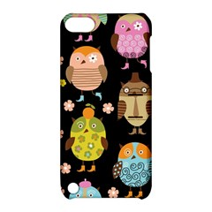 Cute Owls Pattern Apple Ipod Touch 5 Hardshell Case With Stand