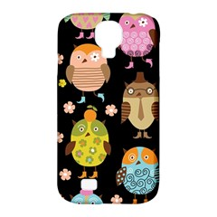 Cute Owls Pattern Samsung Galaxy S4 Classic Hardshell Case (pc+silicone)