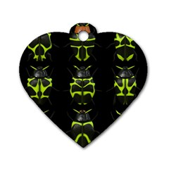 Beetles Insects Bugs Dog Tag Heart (one Side)