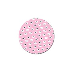 Girly Girlie Punk Skull Golf Ball Marker (4 Pack)