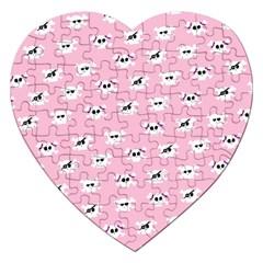Girly Girlie Punk Skull Jigsaw Puzzle (heart)