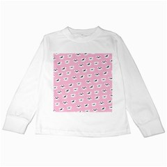 Girly Girlie Punk Skull Kids Long Sleeve T Shirts