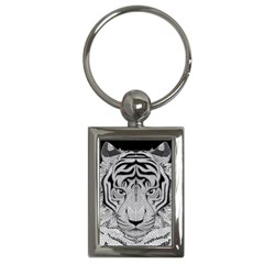 Tiger Head Key Chains (rectangle)
