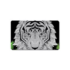 Tiger Head Magnet (name Card)