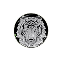 Tiger Head Hat Clip Ball Marker