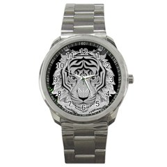Tiger Head Sport Metal Watch