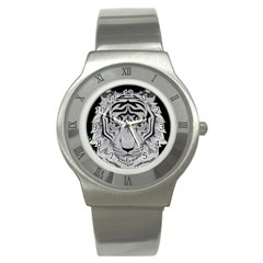 Tiger Head Stainless Steel Watch